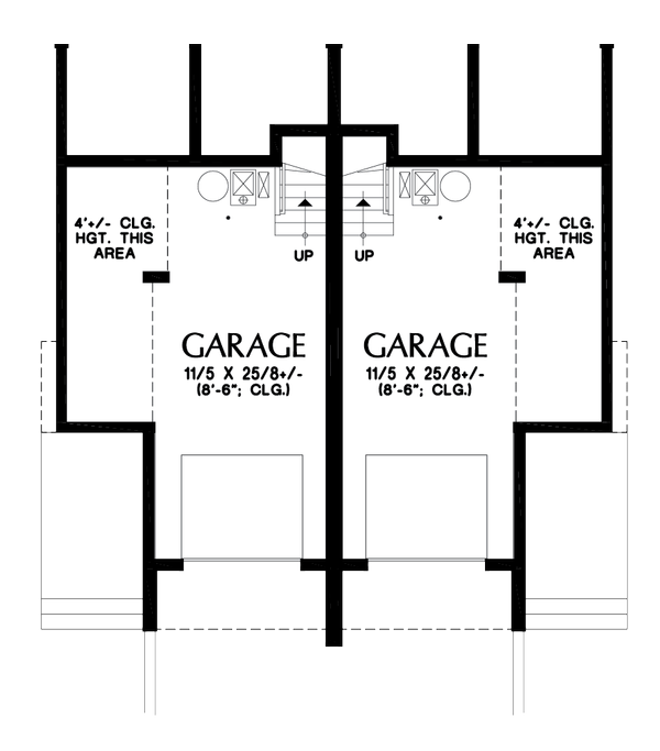 Contemporary Floor Plan - Lower Floor Plan Plan #48-1020