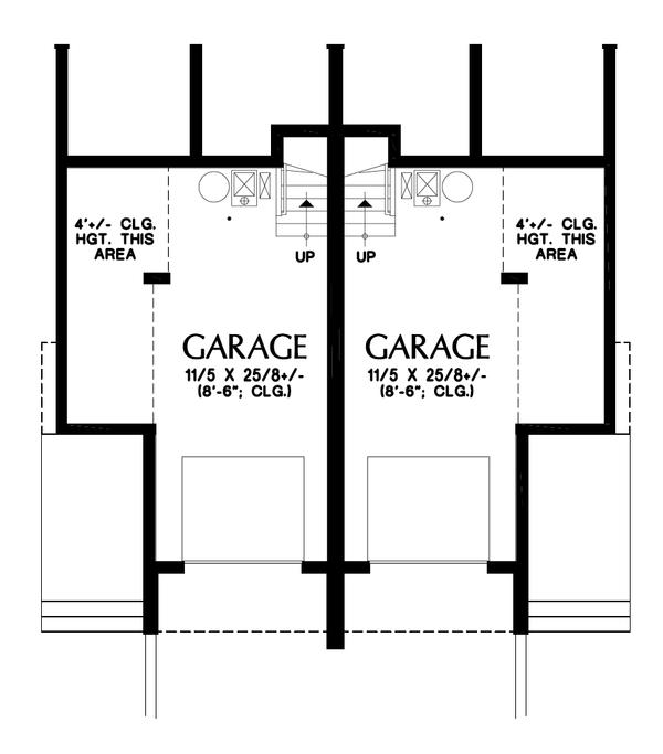 House Plan Design - Contemporary Floor Plan - Lower Floor Plan #48-1020