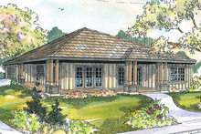 Prairie Exterior - Front Elevation Plan #124-519