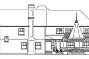 Farmhouse Style House Plan - 5 Beds 4.5 Baths 6051 Sq/Ft Plan #124-111 Exterior - Rear Elevation