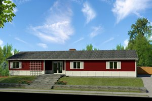 Ranch Exterior - Front Elevation Plan #497-50