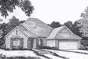 European Exterior - Front Elevation Plan #310-906