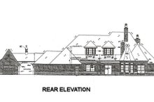 House Plan Design - European Exterior - Rear Elevation Plan #310-666