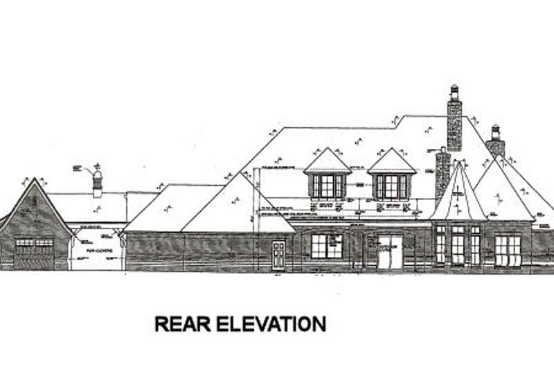 European Exterior - Rear Elevation Plan #310-666 - Houseplans.com