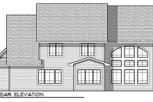 Cottage Exterior - Rear Elevation Plan #70-880