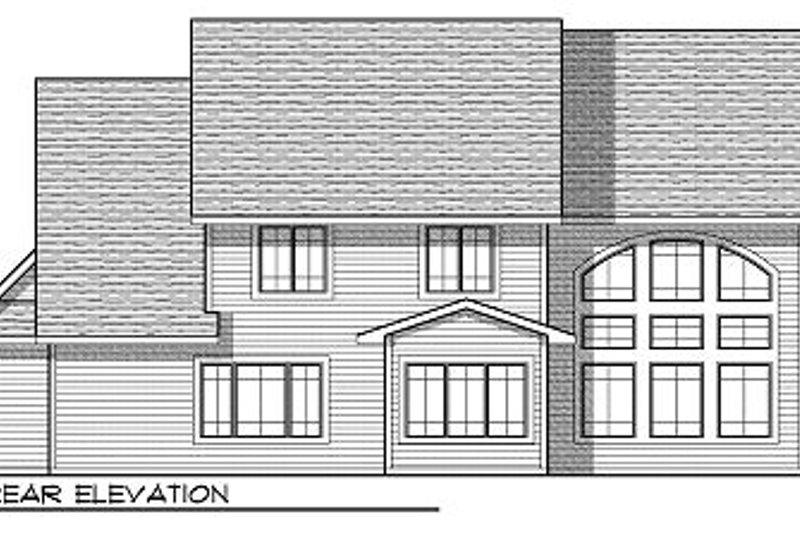 Cottage Exterior - Rear Elevation Plan #70-880 - Houseplans.com
