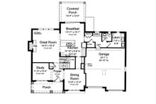 Traditional Floor Plan - Main Floor Plan Plan #46-883