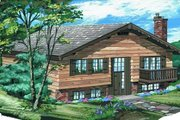 Bungalow Style House Plan - 3 Beds 2 Baths 1102 Sq/Ft Plan #47-396 Exterior - Front Elevation