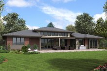 Dream House Plan - Contemporary Exterior - Rear Elevation Plan #48-958