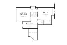 Craftsman Floor Plan - Upper Floor Plan Plan #48-615
