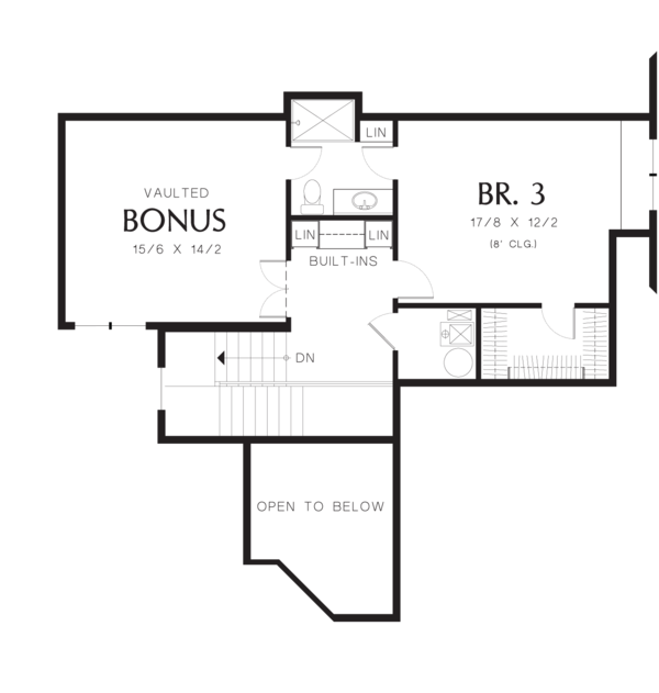 House Plan Design - Craftsman Floor Plan - Upper Floor Plan #48-615