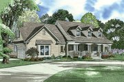 Country Style House Plan - 4 Beds 3 Baths 2373 Sq/Ft Plan #17-421 Exterior - Front Elevation