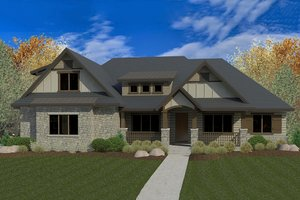 Craftsman Exterior - Front Elevation Plan #920-28