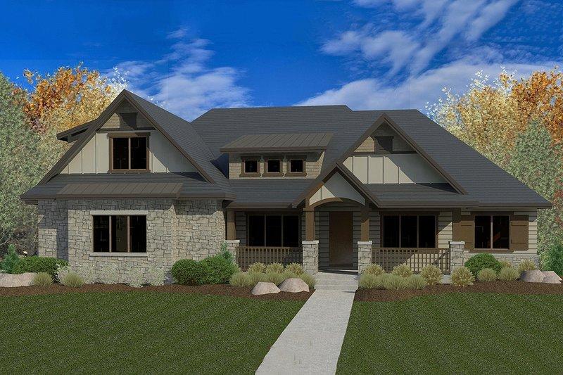 Dream House Plan - Craftsman Exterior - Front Elevation Plan #920-28