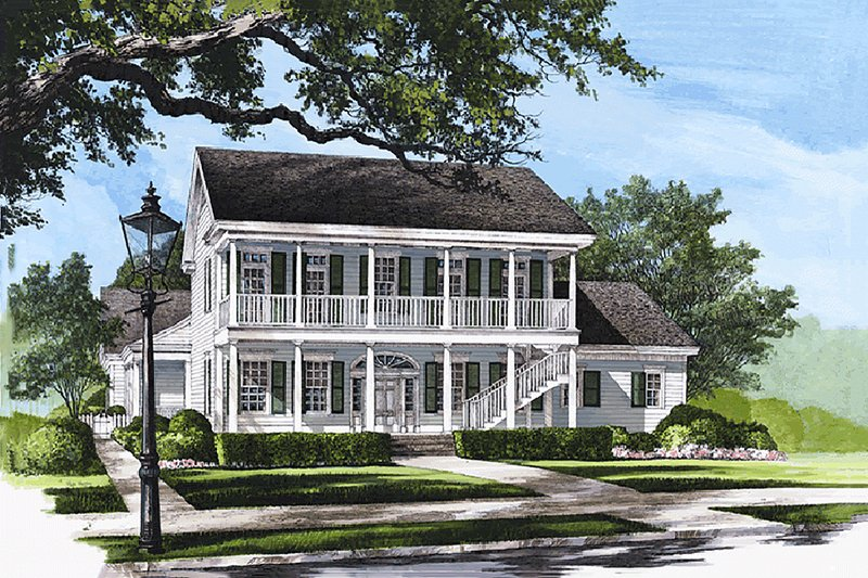 Colonial Exterior - Front Elevation Plan #137-144
