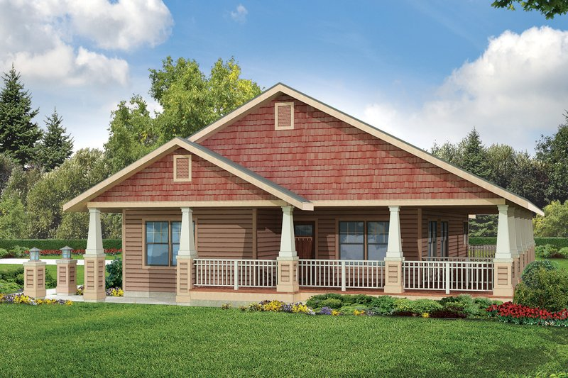 Cottage Style House Plan - 3 Beds 2 Baths 1685 Sq/Ft Plan #124-950 Exterior - Front Elevation