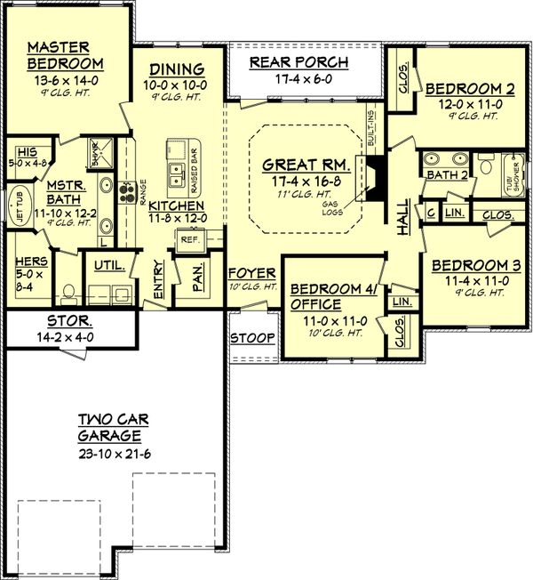 Traditional Floor Plan - Main Floor Plan Plan #430-57
