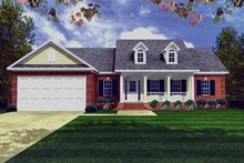 Southern Exterior - Front Elevation Plan #21-194