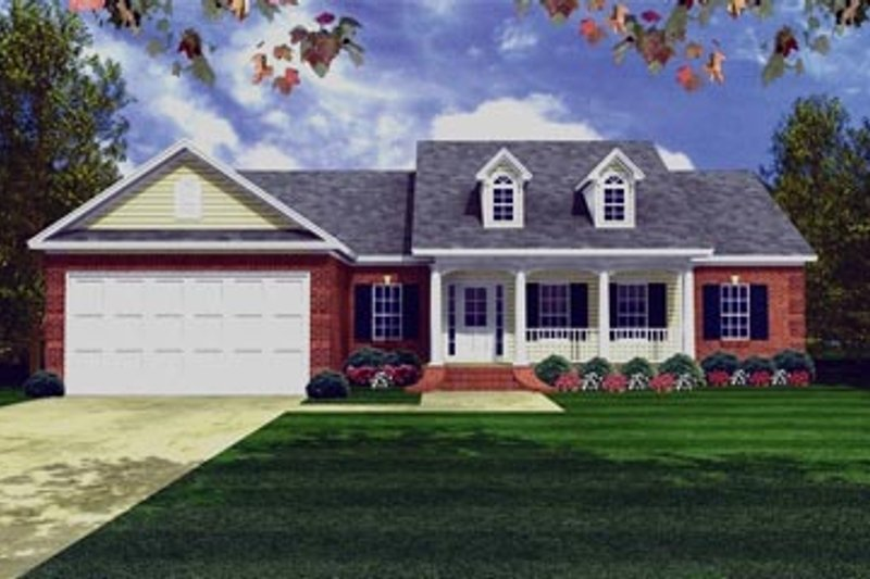 Southern Exterior - Front Elevation Plan #21-194 - Houseplans.com