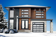 Contemporary Style House Plan - 3 Beds 2 Baths 2267 Sq/Ft Plan #25-4374 Exterior - Front Elevation