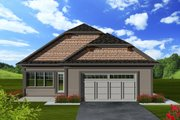 Craftsman Style House Plan - 2 Beds 2 Baths 1888 Sq/Ft Plan #70-1114 Exterior - Rear Elevation
