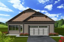 Dream House Plan - Craftsman Exterior - Rear Elevation Plan #70-1114