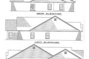 Traditional Style House Plan - 3 Beds 2 Baths 1317 Sq/Ft Plan #17-197 Exterior - Rear Elevation