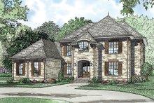 House Plan Design - European Exterior - Front Elevation Plan #17-2382