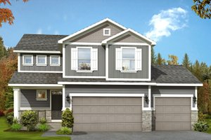 Home Plan - Traditional Exterior - Front Elevation Plan #1073-7