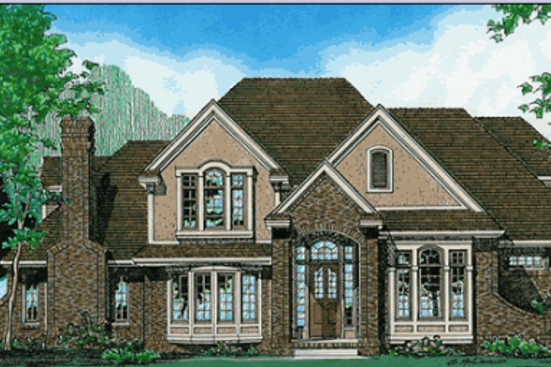 Traditional Exterior - Other Elevation Plan #20-1044 - Houseplans.com