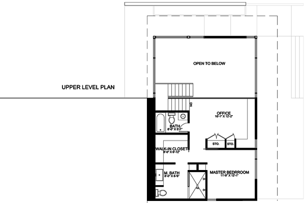 Modern Floor Plan - Upper Floor Plan Plan #498-2