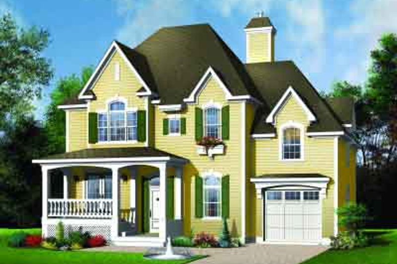 Dream House Plan - European Exterior - Front Elevation Plan #23-575