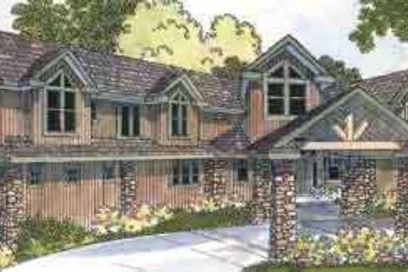 Craftsman Exterior - Front Elevation Plan #124-455