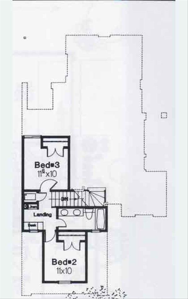 Colonial Floor Plan - Upper Floor Plan #310-759
