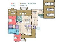 Country Floor Plan - Main Floor Plan Plan #63-413