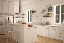 modern farmhouse kitchen elevation