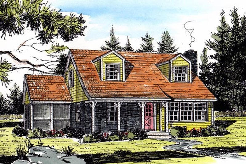 Country Exterior - Front Elevation Plan #315-102 - Houseplans.com
