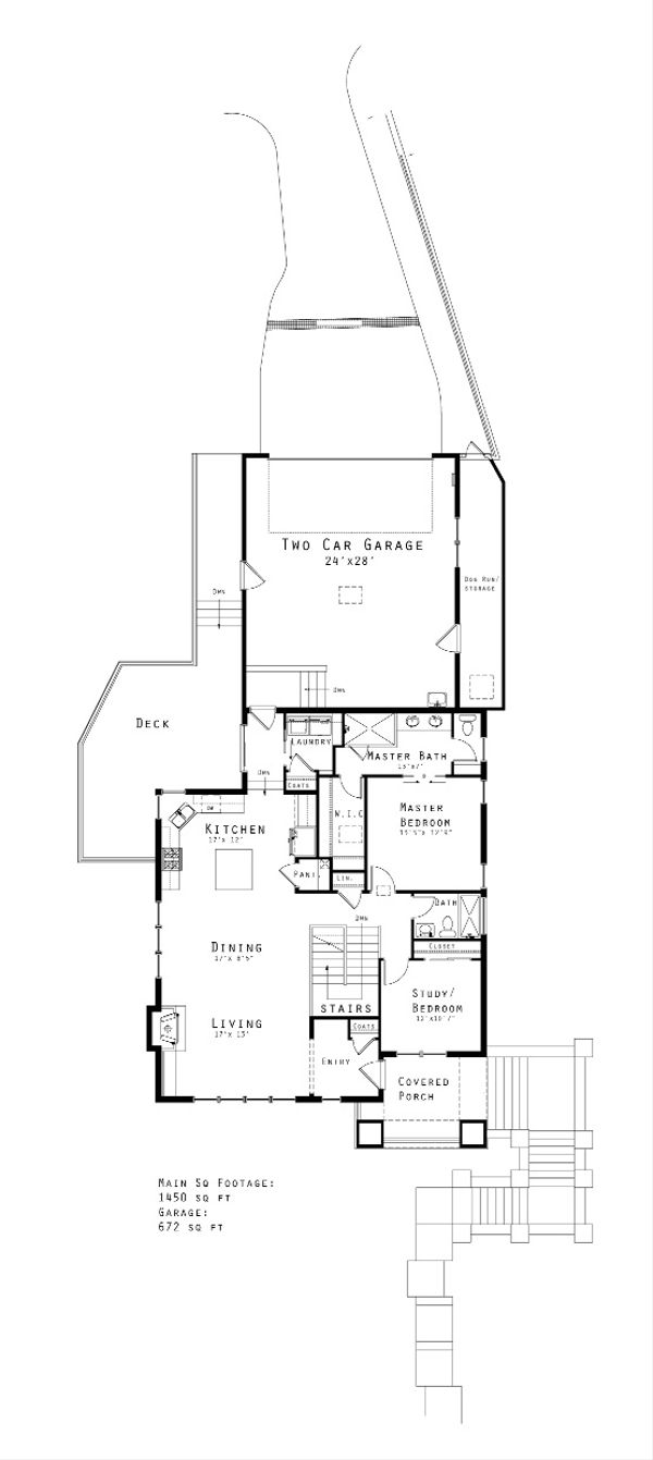 Prairie Floor Plan - Main Floor Plan Plan #434-20