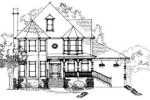 Victorian Exterior - Front Elevation Plan #325-197