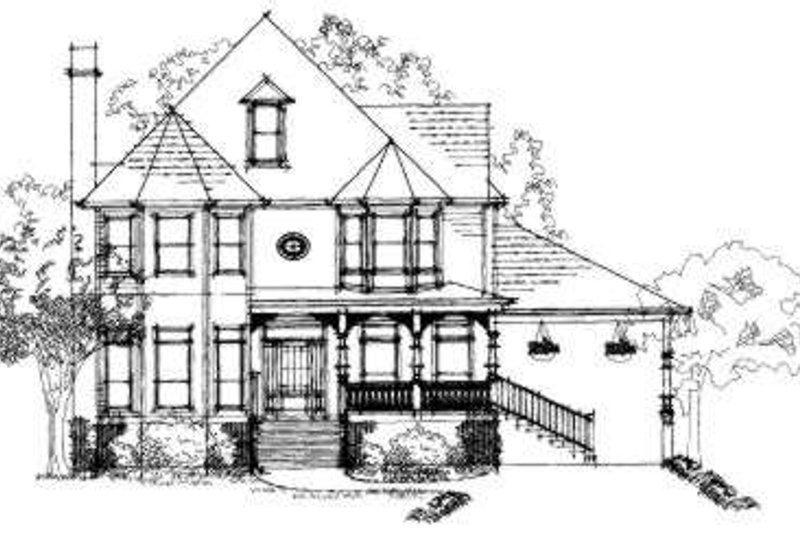 Victorian Exterior - Front Elevation Plan #325-197