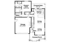 Craftsman Floor Plan - Main Floor Plan Plan #124-1210