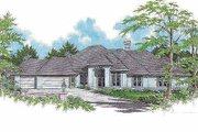 Traditional Style House Plan - 4 Beds 2.5 Baths 3242 Sq/Ft Plan #48-129 Exterior - Front Elevation