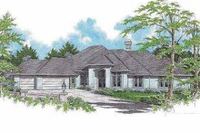 Traditional Exterior - Front Elevation Plan #48-129