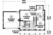 Colonial Style House Plan - 3 Beds 2 Baths 1718 Sq/Ft Plan #25-4678 Floor Plan - Main Floor Plan