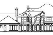 Southern Style House Plan - 5 Beds 6.5 Baths 7138 Sq/Ft Plan #67-126 Exterior - Rear Elevation