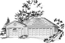 Traditional Exterior - Front Elevation Plan #18-9274