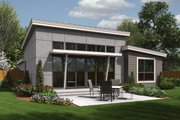 Modern Style House Plan - 3 Beds 2 Baths 1613 Sq/Ft Plan #48-597 Exterior - Rear Elevation
