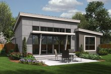 Home Plan - Modern Exterior - Rear Elevation Plan #48-597