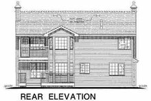 House Blueprint - Traditional Exterior - Rear Elevation Plan #18-263