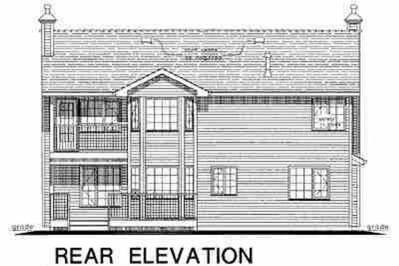 Traditional Exterior - Rear Elevation Plan #18-263 - Houseplans.com